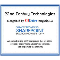 Most promising SharePoint Solution Provider-2019